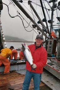 DC Chef Rob Klink shows off a very fresh Alaskan Sockeye